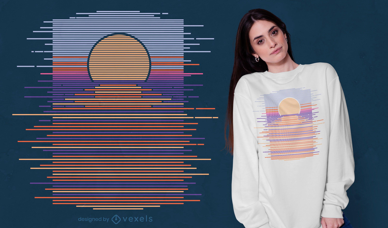 Horizon sunset t-shirt design