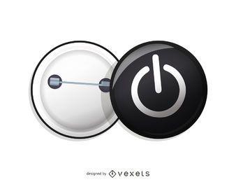 Pin en vector de botón