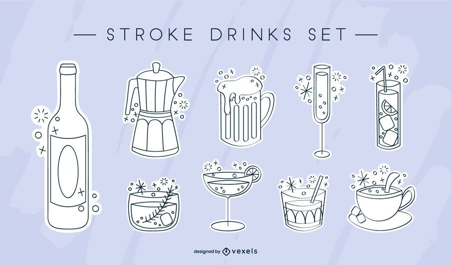 Cute sparkly drink set