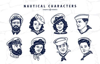 Nautical people character set