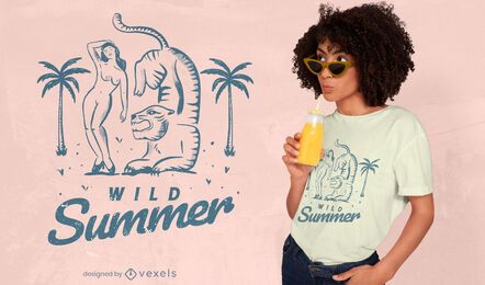 Design de t-shirt de verão selvagem
