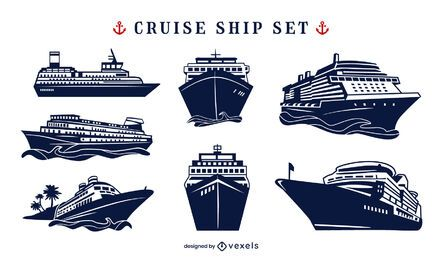 Conjunto náutico de navio de cruzeiro
