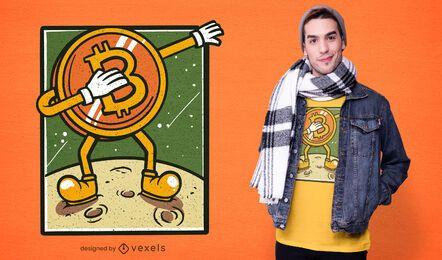 Design de t-shirt dabbing Bitcoin