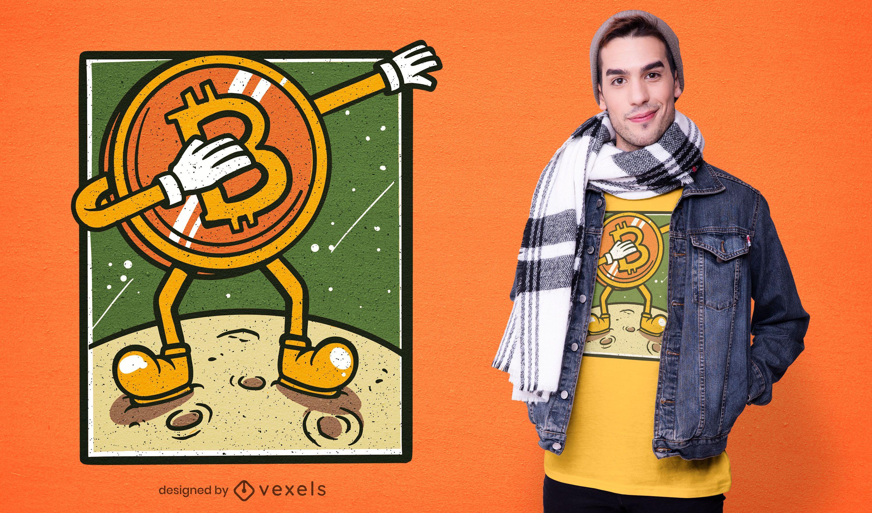 Bitcoin dabbing t-shirt design