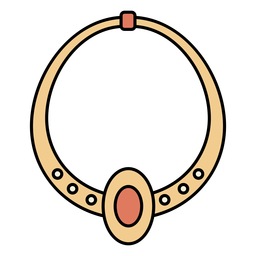 Gold necklace stones