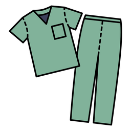 Medical scrub outfit