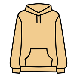 Hoodie solid color clothing