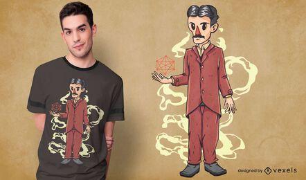 Nikola tesla t-shirt design