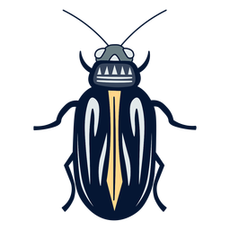 Beetle insect flat