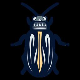 Insecto escarabajo plano