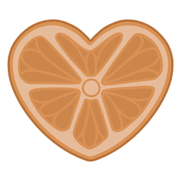 Heart shaped orange flat
