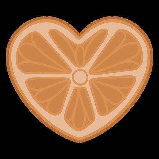 Heart shaped orange flat
