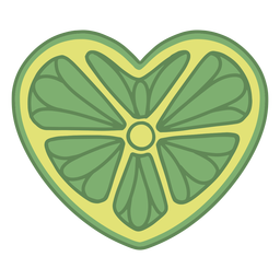 Heart shaped lime flat