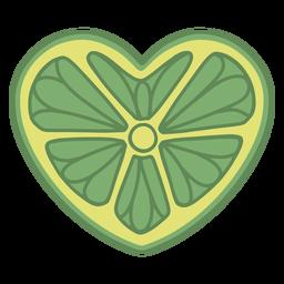 Heart shaped lime flat