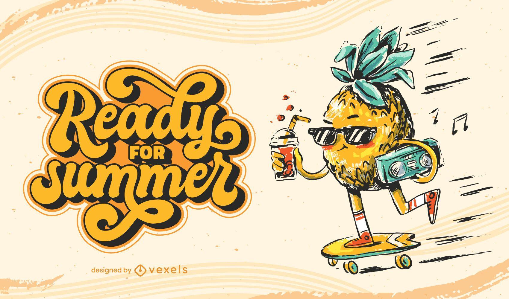 Listo para la ilustración de verano