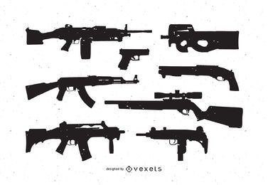 Pack de vectores gratis de armas