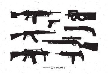 Pacote de vetores grátis de armas