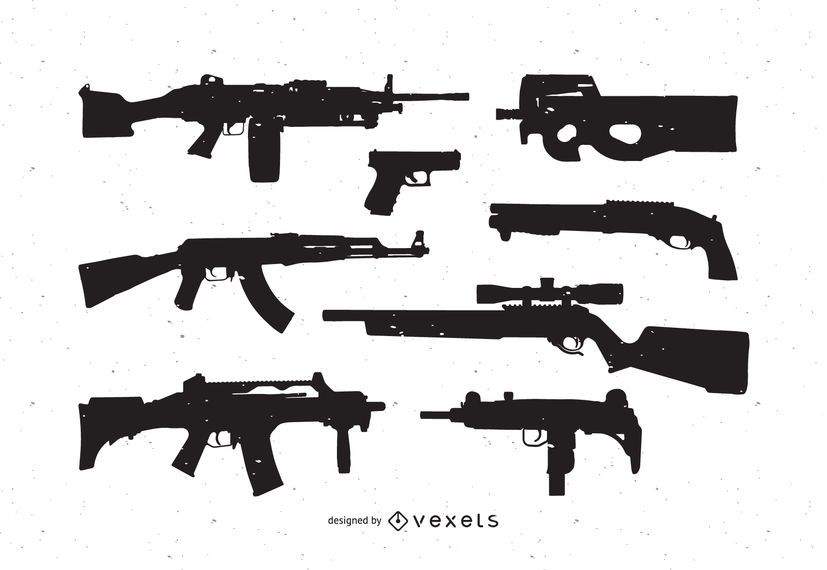 Guns free vector pack - Vector download