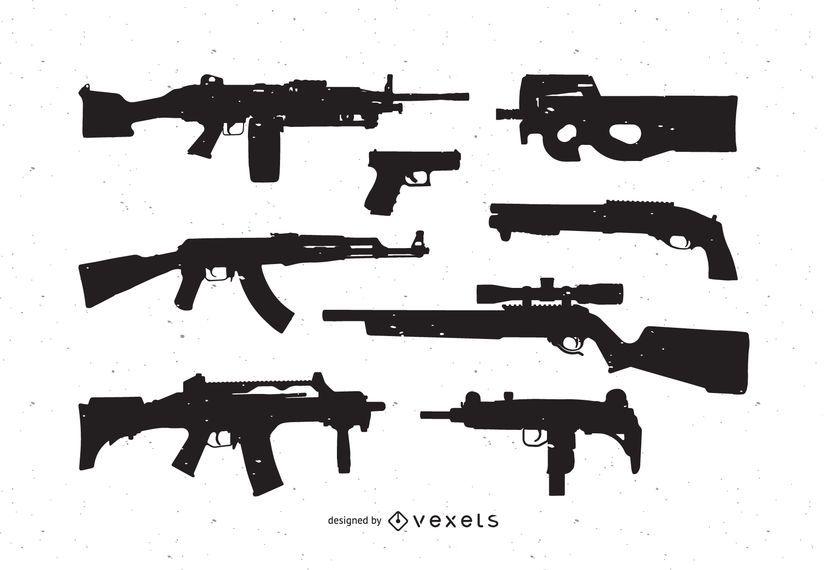 Paquete de vectores gratis de armas