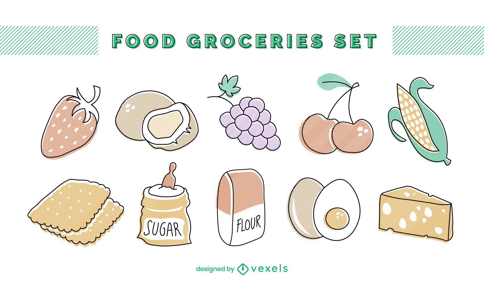 Food groceries set
