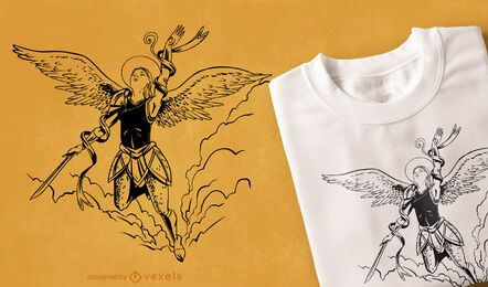 Diseño de camiseta Flying Angel