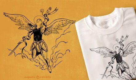 Flying angel t-shirt design