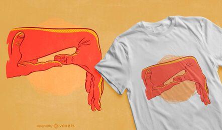 Pulled thumb t-shirt design