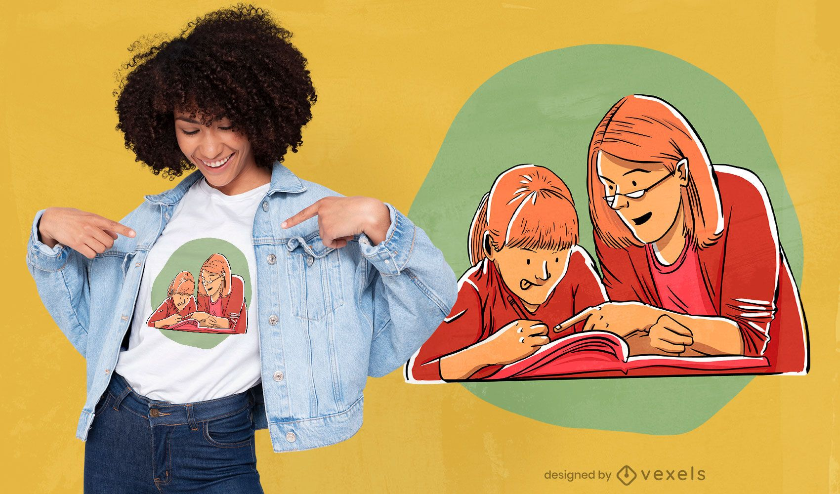 Home education t-shirt design