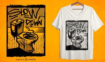 Diseño de camiseta de baño lento.
