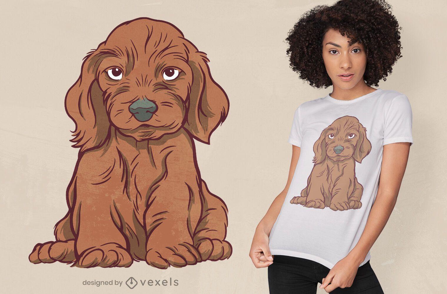 Design de t-shirt Dog Dachshund