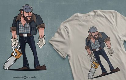 Chainsaw lumberjack t-shirt design