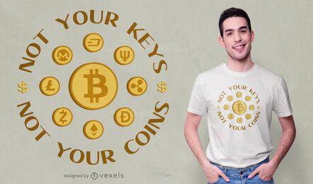 Design de t-shirt com citação criptográfica