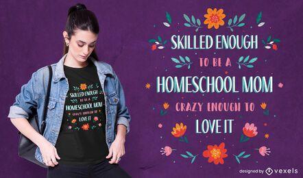 Design de camisetas para mães em casa