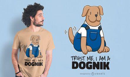 Design de t-shirt para técnico de cães