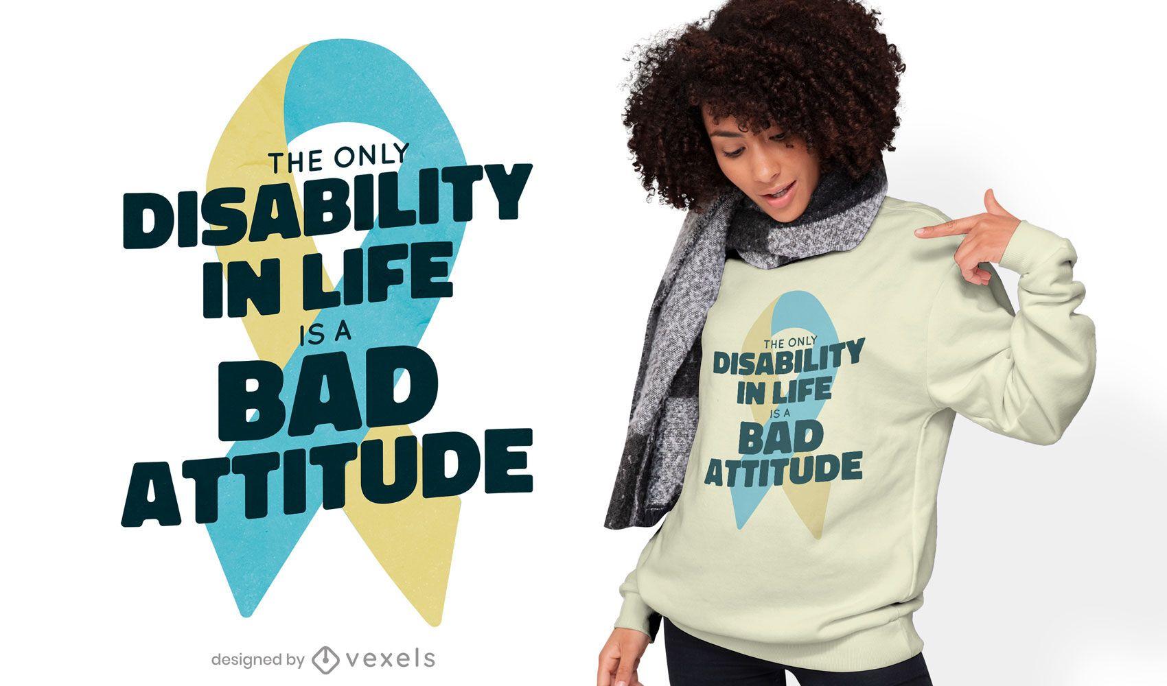 Diseño de camiseta de mala actitud.