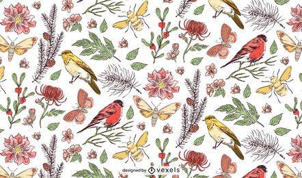 Diseño de patrón botánico