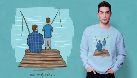 Design de t-shirt do pai pescador