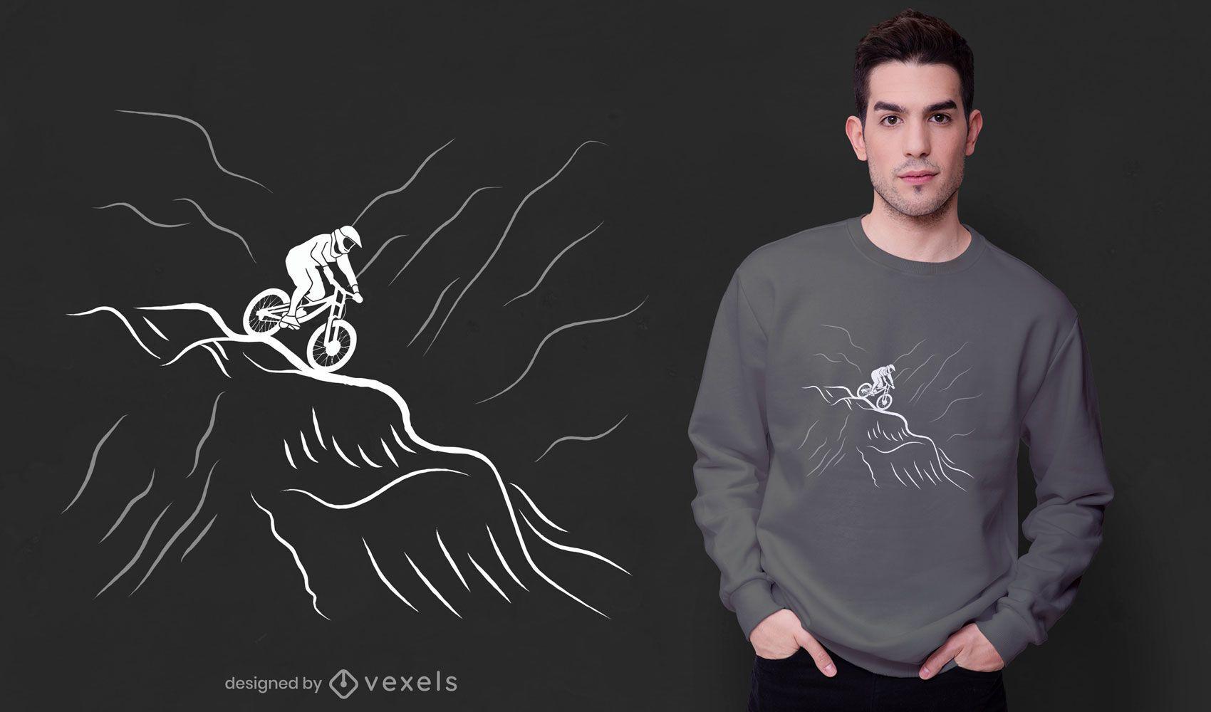 Design de t-shirt de bicicleta downhill