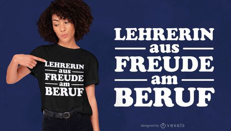 Diseño de camiseta de cita de profesor alemán