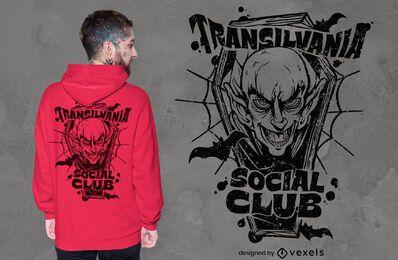 Diseño de camiseta del club social transilvania