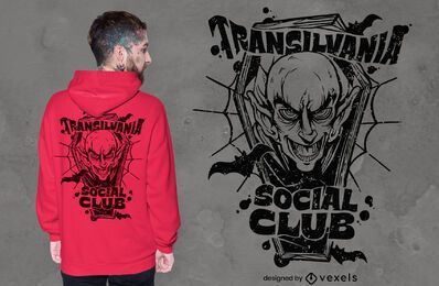 Transilvania social club t-shirt design