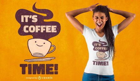 Coffee cup time t-shirt design