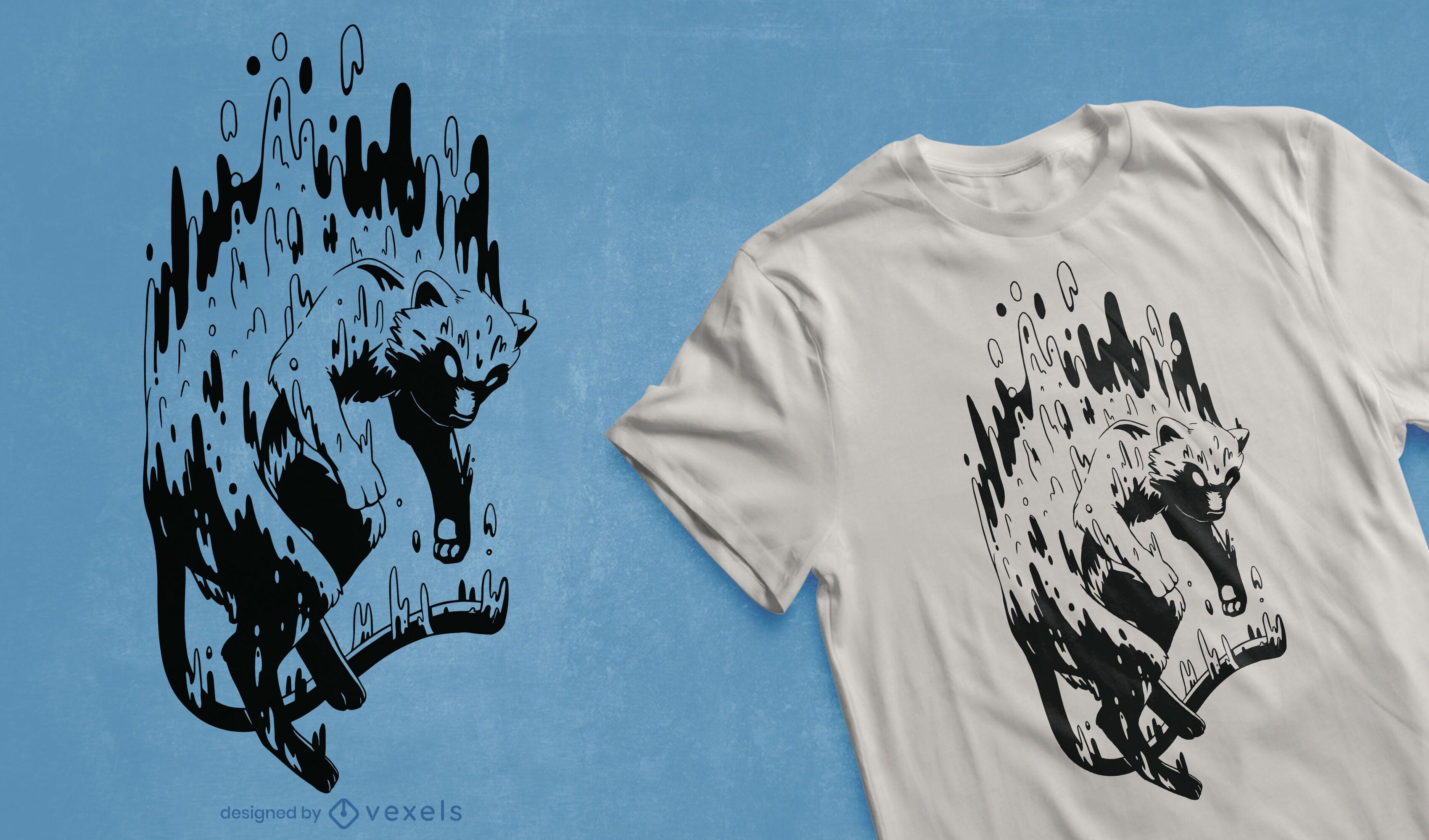 Design de camiseta de criatura derretendo