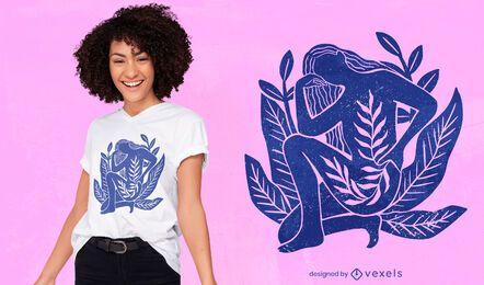 Design de t-shirt da natureza feminina