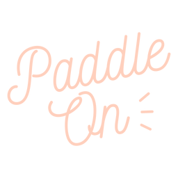 Stand up paddleboarding cursive lettering