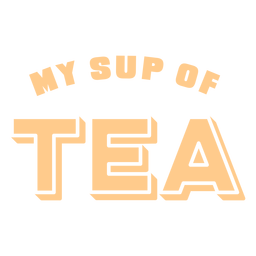 Stand up paddleboarding tea lettering