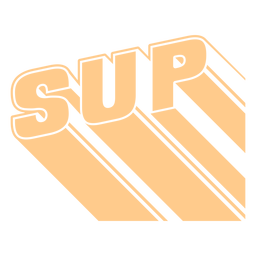 3d standup paddleboarding lettering