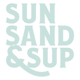 Sup beach sport lettering