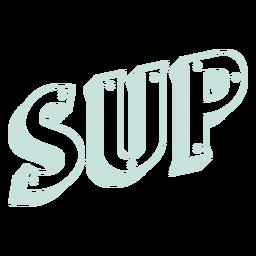 3d sup sport lettering