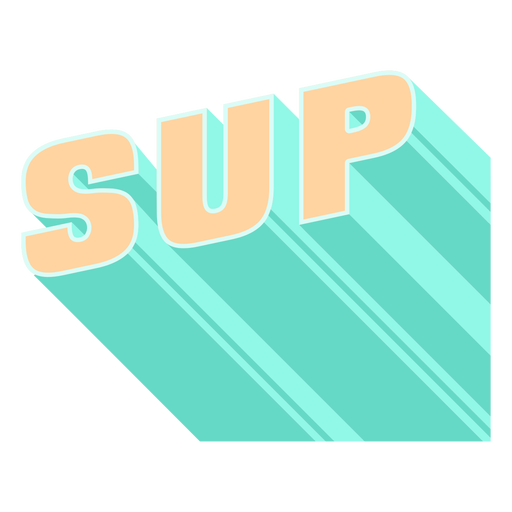 Stand up paddleboarding 3d lettering